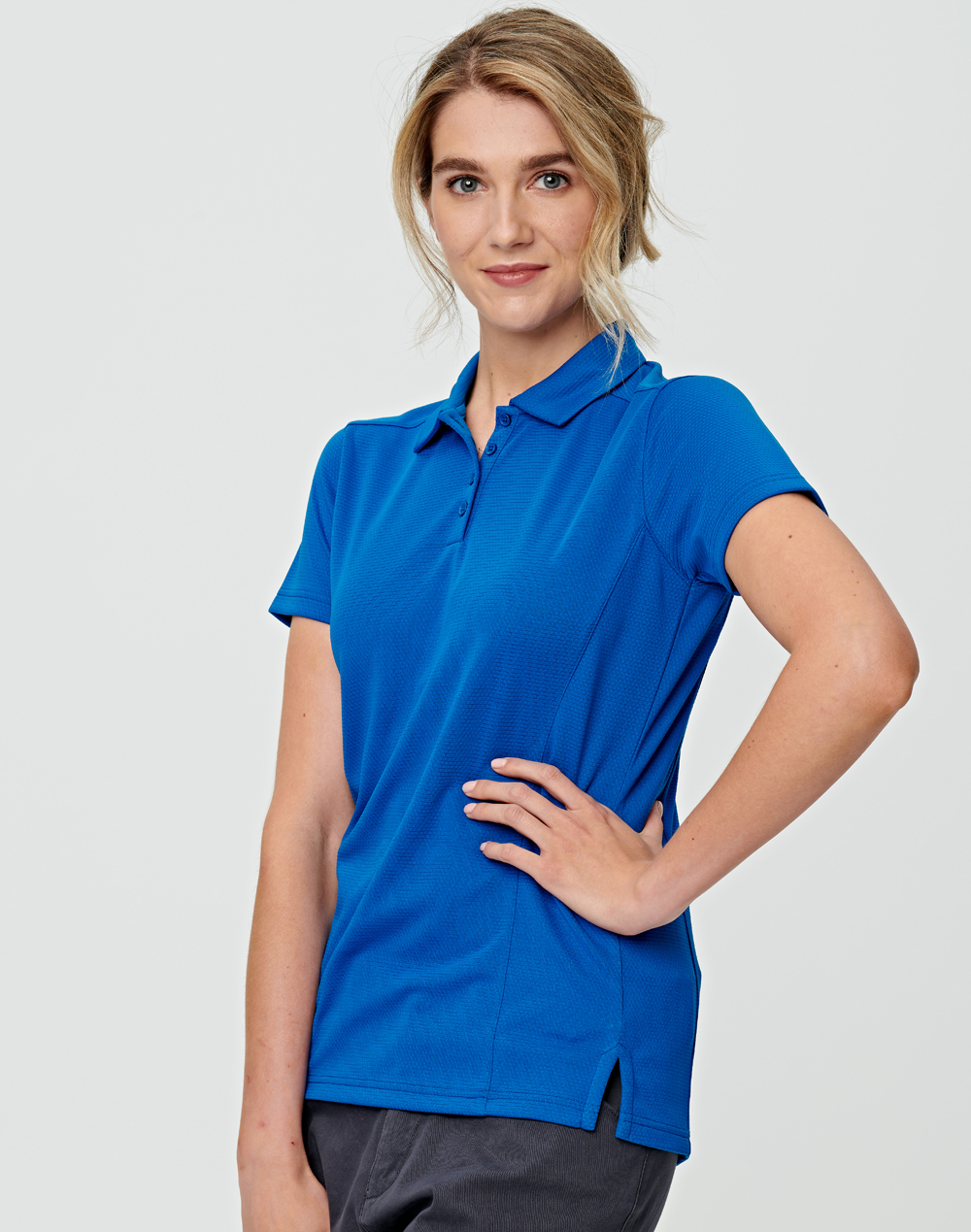 PS88 BAMBOO CHARCOAL CORPORATE SHORT SLEEVE POLO Ladies