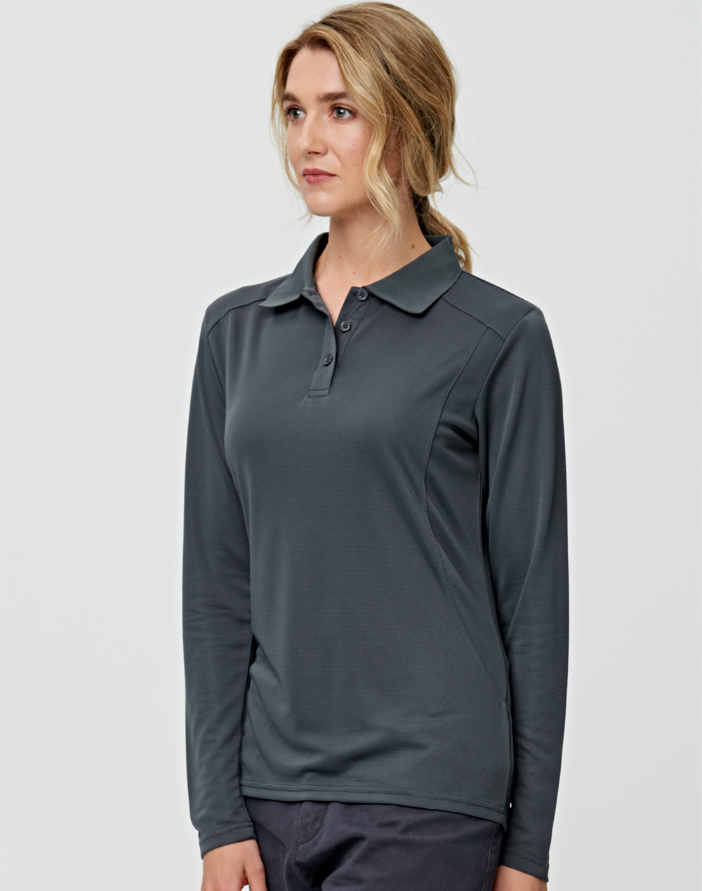 PS90 LUCKY BAMBOO LONG SLEEVE POLO Ladies