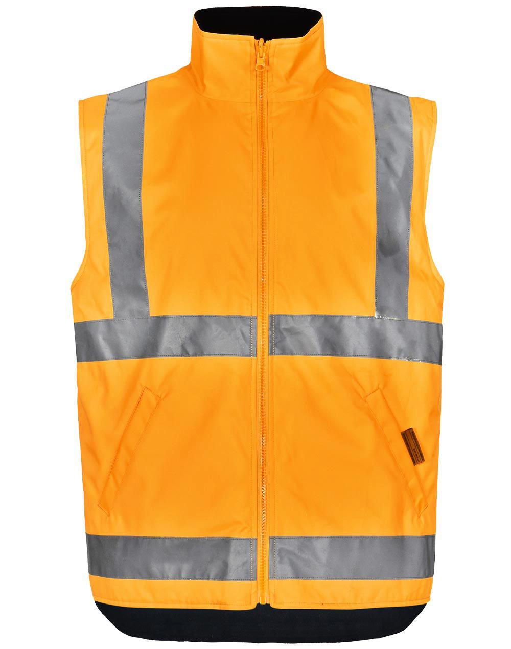 SW77 VIC Rail Hi Vis 3 in 1 Safety Jacket and Vest - Unisex